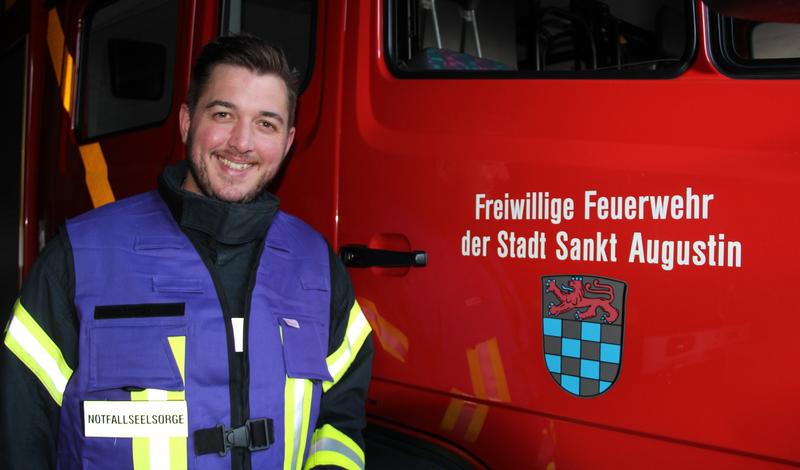 Hauptfeuerwehrmann Sebastian Körling ist Fachberater Seelsorge der Freiwilligen Feuerwehr Sankt Augustin