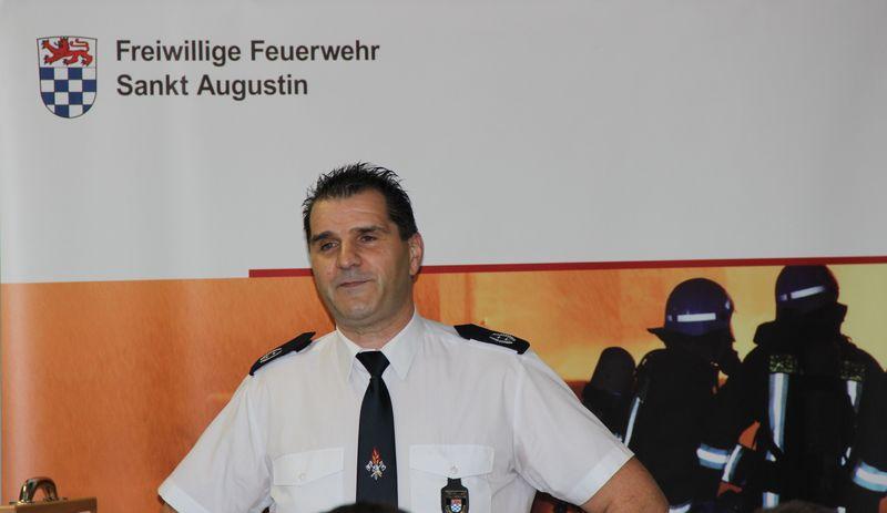Der Leiter der Feuerwehr, STBI Herbert Maur